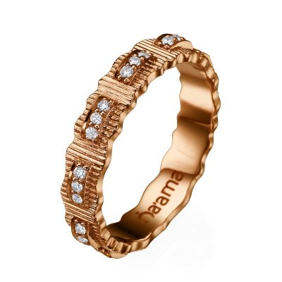 rose gold ribbon wedding band