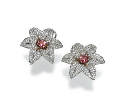 high end flower earrings