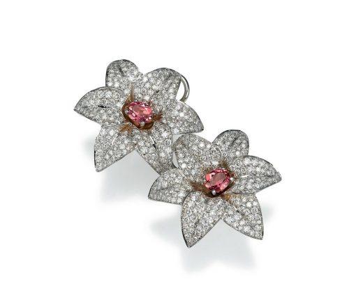 luxury lily flower earrings