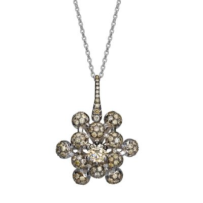 queen anne's lace champagne diamond necklace