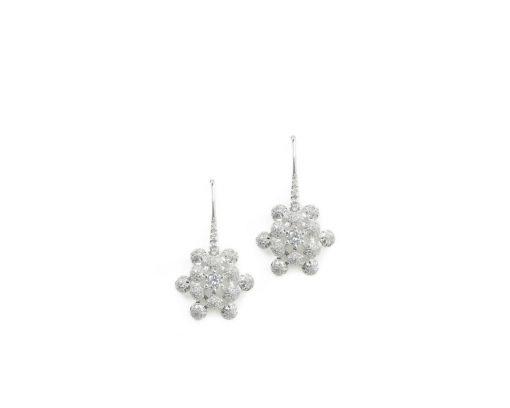 high end diamond flower earrings
