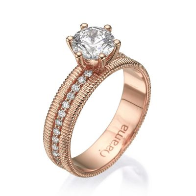 eternity engagement ring rose gold