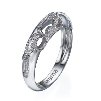 Floral Lace wedding ring white gold