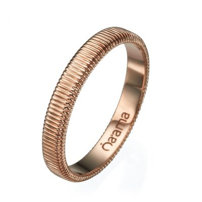 rose gold embroidered wedding band
