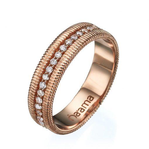 rose gold eternity ring