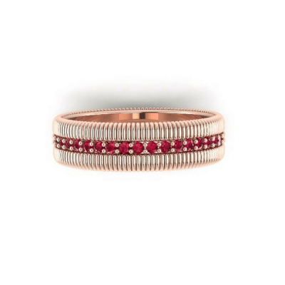 ruby eternity ring rose gold