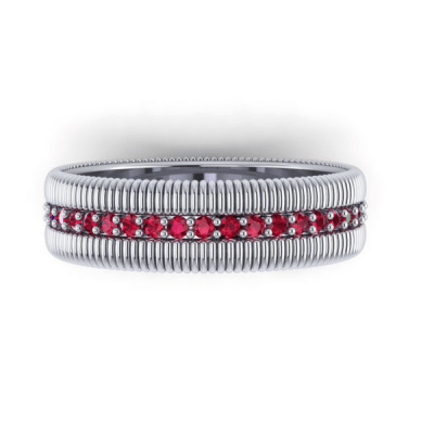 ruby eternity ring, white gold