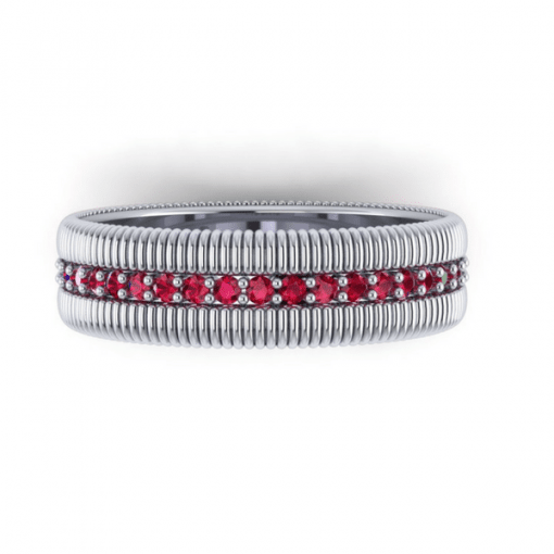 ruby eternity ring, white gold