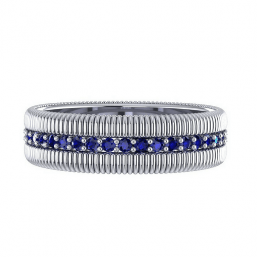 sapphire eternity ring white gold