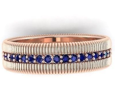 sapphire eternity ring rose gold