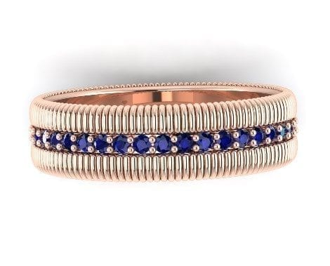 sapphire eternity ring rose gold