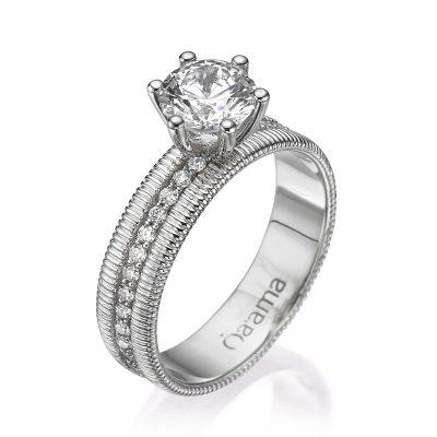 white gold eternity diamond ring