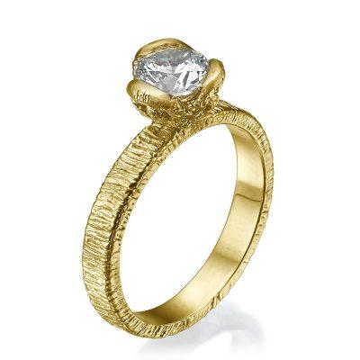 three petal vintage engagement ring