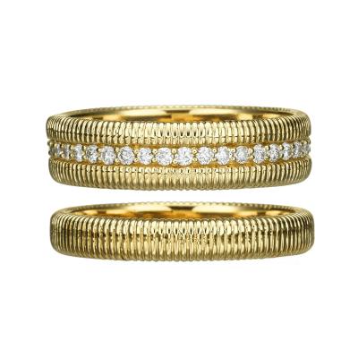 gold eternity wedding ring set