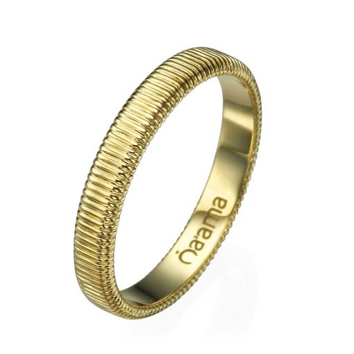 embroidered gold wedding band