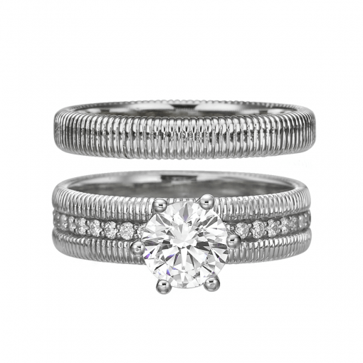 white gold classic bridal set