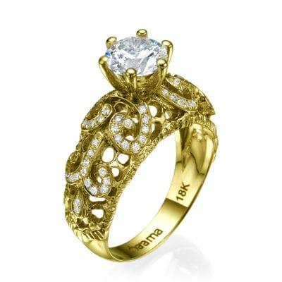 diamond lace ring 18k gold